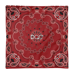 Red Bandana Designer Pillow Case ONLY by Diamondz Original Clothing