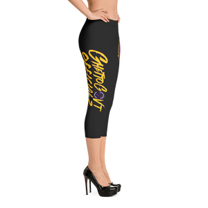 Ghetto Gov't Officialz Purple Bee Designer Capri Leggings