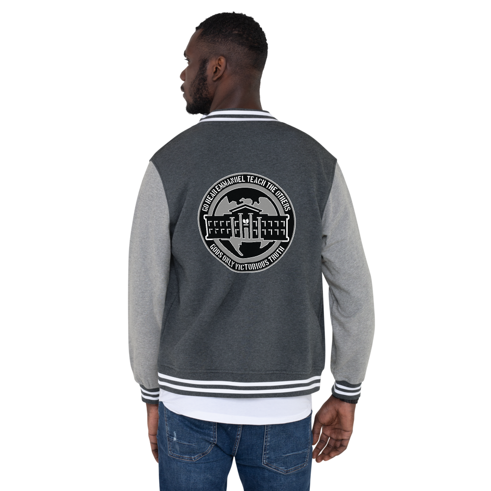 GGO Designer Logo Men's Letterman Jacket