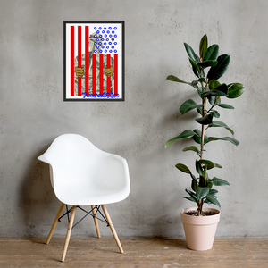 DOC Flag Wall Art Enhanced Matte Paper Framed Poster (in)