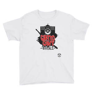 Ghetto Gov't Officialz Graffiti Logo Youth Short Sleeve T-Shirt Heaven Razah - Hell Razah Graphics by iHustle365_