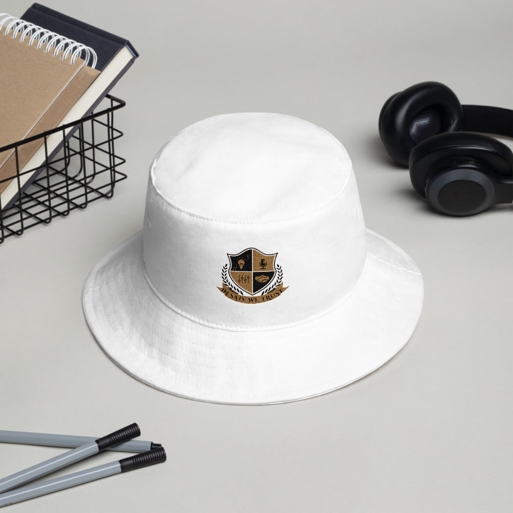 DKE In Saiv We Trust Gold Logo Bucket Hat by DiamondzOC - Diamond Klub Apparel