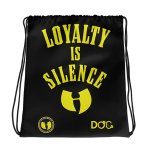 HRMI LOYALTY IS SILENCE Fall 2019 HellRazah Music Inc Drawstring Cinch Bag Official HeavenRazah Merchandise