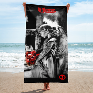 Official Heaven Razah / Hell Razah Music Rose Angel Designer Beach Towel