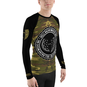 Official Hell Razah Music Inc Camo on Black Sublimated Athletic Men's Rash Guard