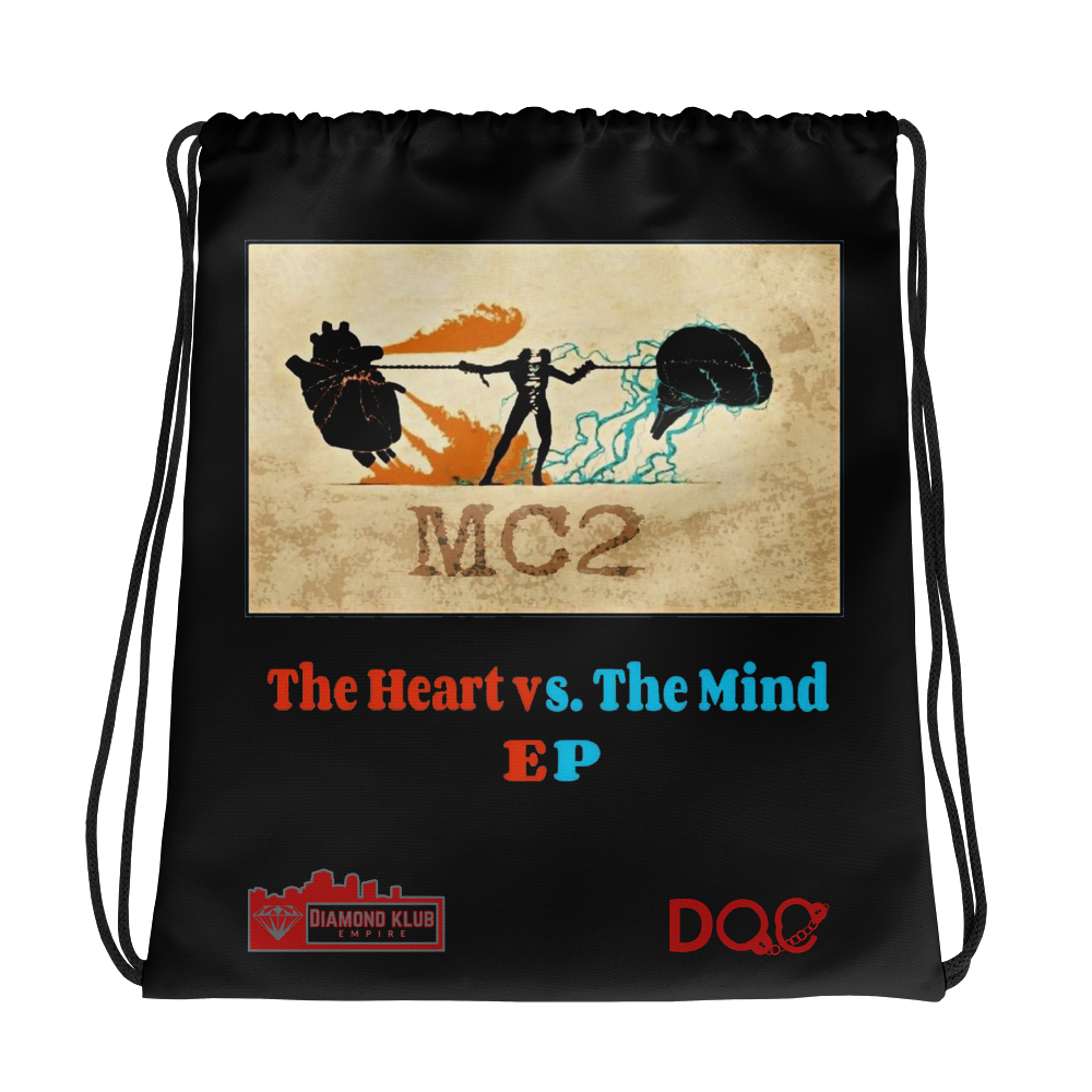 Official Diamond Klub Empire HEART VS MIND EP Designer Drawstring Bag