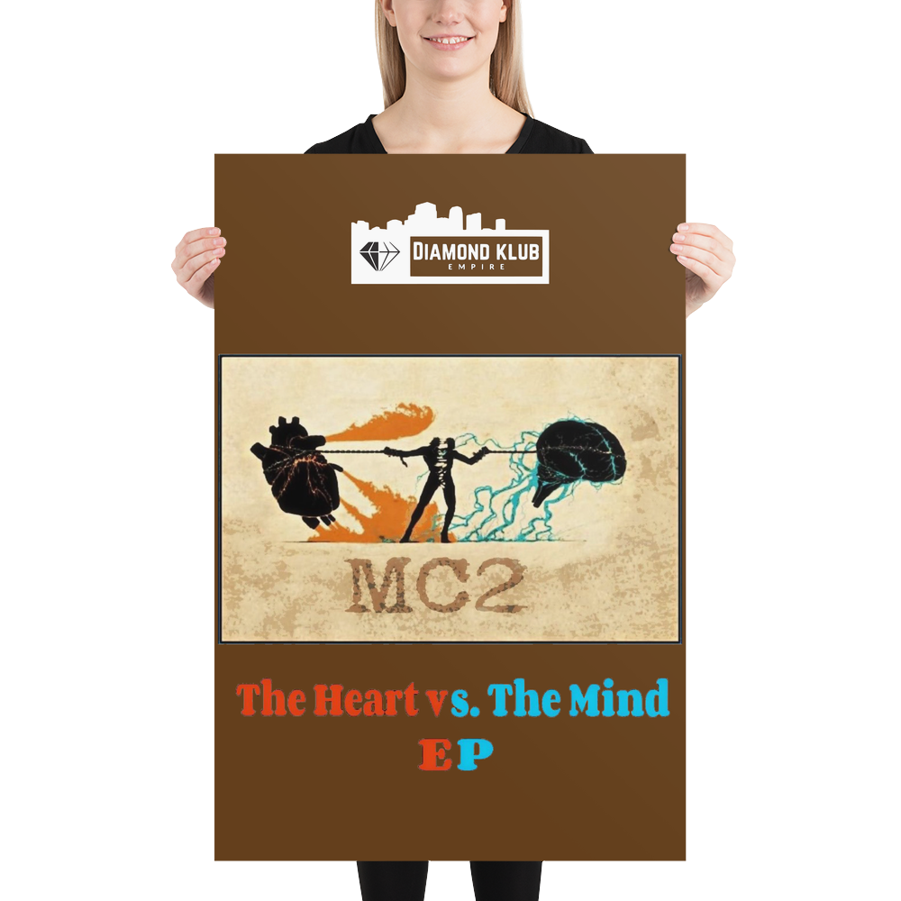 Official Diamond Klub Empire THE HEART vs THE MIND EP Limited Edition Collectors Poster