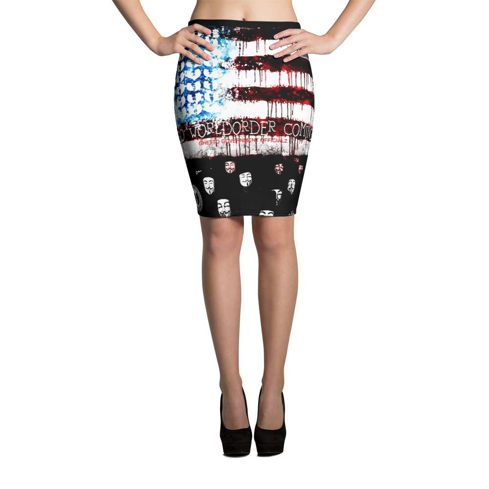 Official Hell Razah GGO World Order Heaven Razah Designer Pencil Skirt