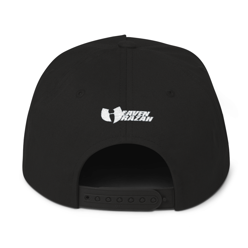 Official HellRazah Music Inc. Skateboard Tagger Style Embroidered Flat Bill Hat SnapBack Cap HeavenRazah Merch Graphics by Sly Ski Original