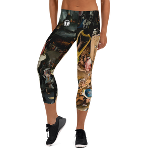 Official HellRazah Music Inc. Renaissance Designer Capri Leggings HeavenRazah Merch