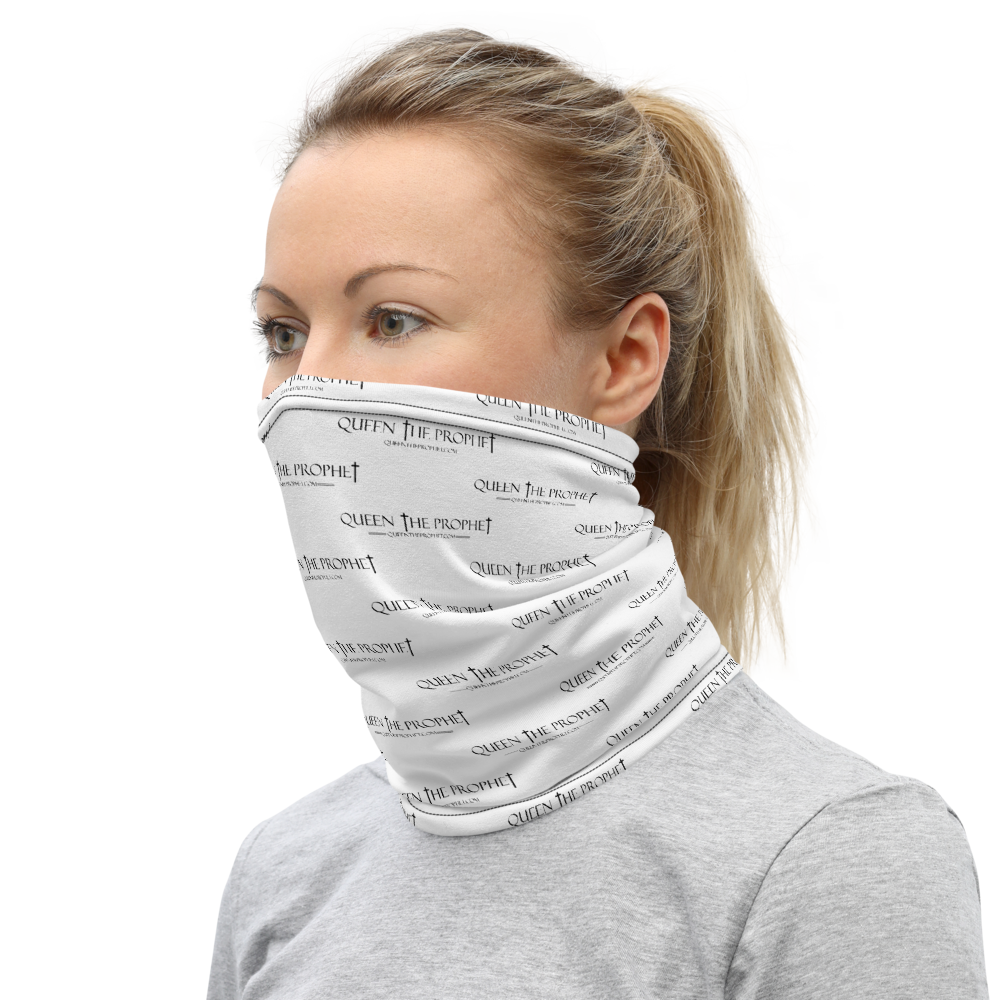 Queen The Prophet Patterned Logo Face Covering - Neck Gaiter