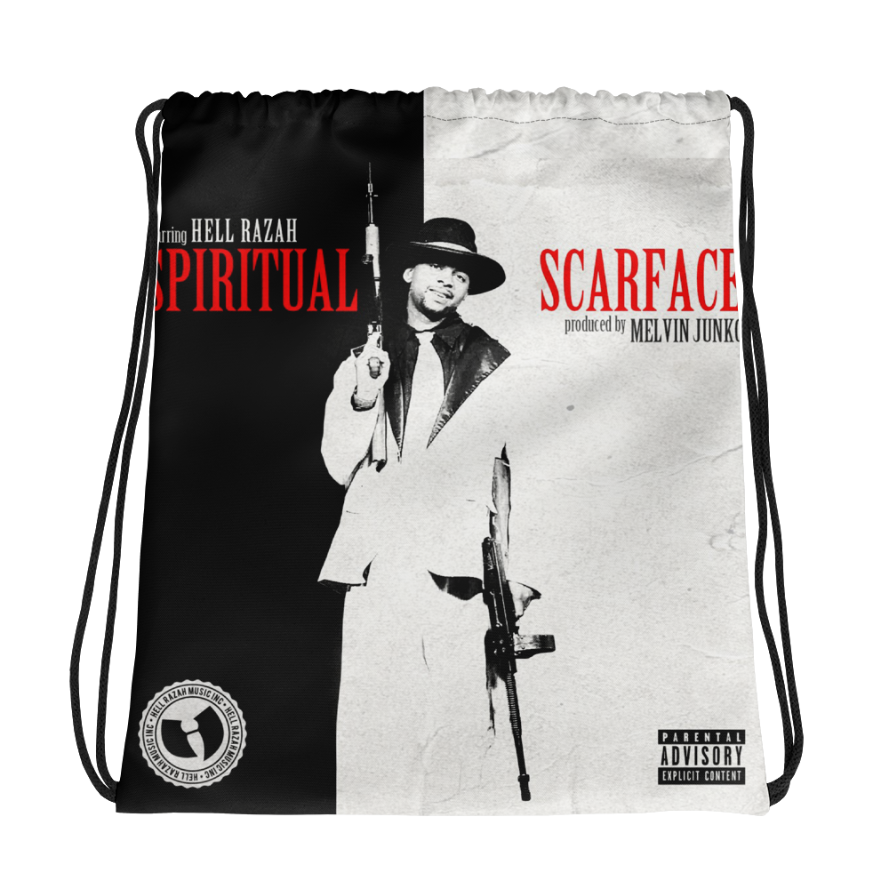Limited Edition SPIRITUAL SCARFACE Album Cover Art - Collectible Drawstring bag