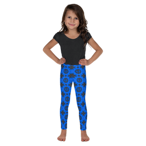 Renaissance Blue Azure Kid's Leggings