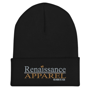 Renaissance Apparel Embroidered Signature Cuffed Beanie