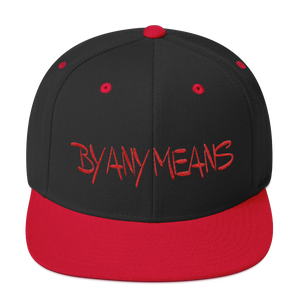 By Any Means by DOC Wool Snapback Cap Structure Adjustable Hat