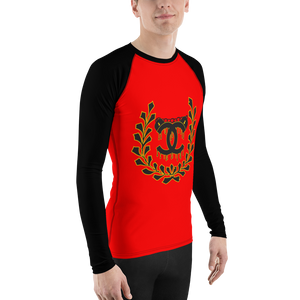 Red Uncuffed by Diamondz Men's Athletic Rash Guard