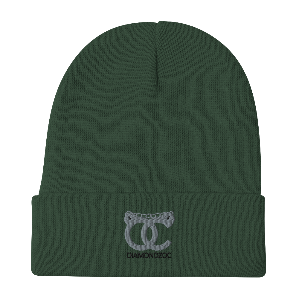 DiamondzOC Cuffed Up Logo Winter Hat Embroidered Beanie