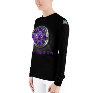 TEAM QUEEN - Daughters of Zion GGO Apparel Women's Rash Guard HeavenRazah Graphics by Culture Freedom