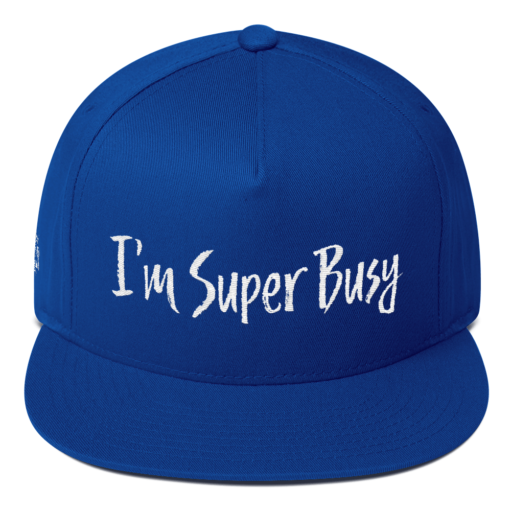 I'm Super Busy Official DKA Embroidered Flat Bill Cap