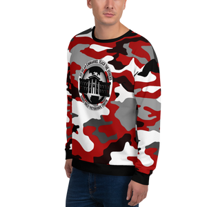Ghetto Gov't Officialz Red Camo Sublimated Designer Unisex Sweatshirt