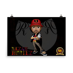 RAZAH RUBIEZ Official HellRazah Music Inc. Collectors Poster HeavenRazah Merch Graphics by SmuveMassBeatz