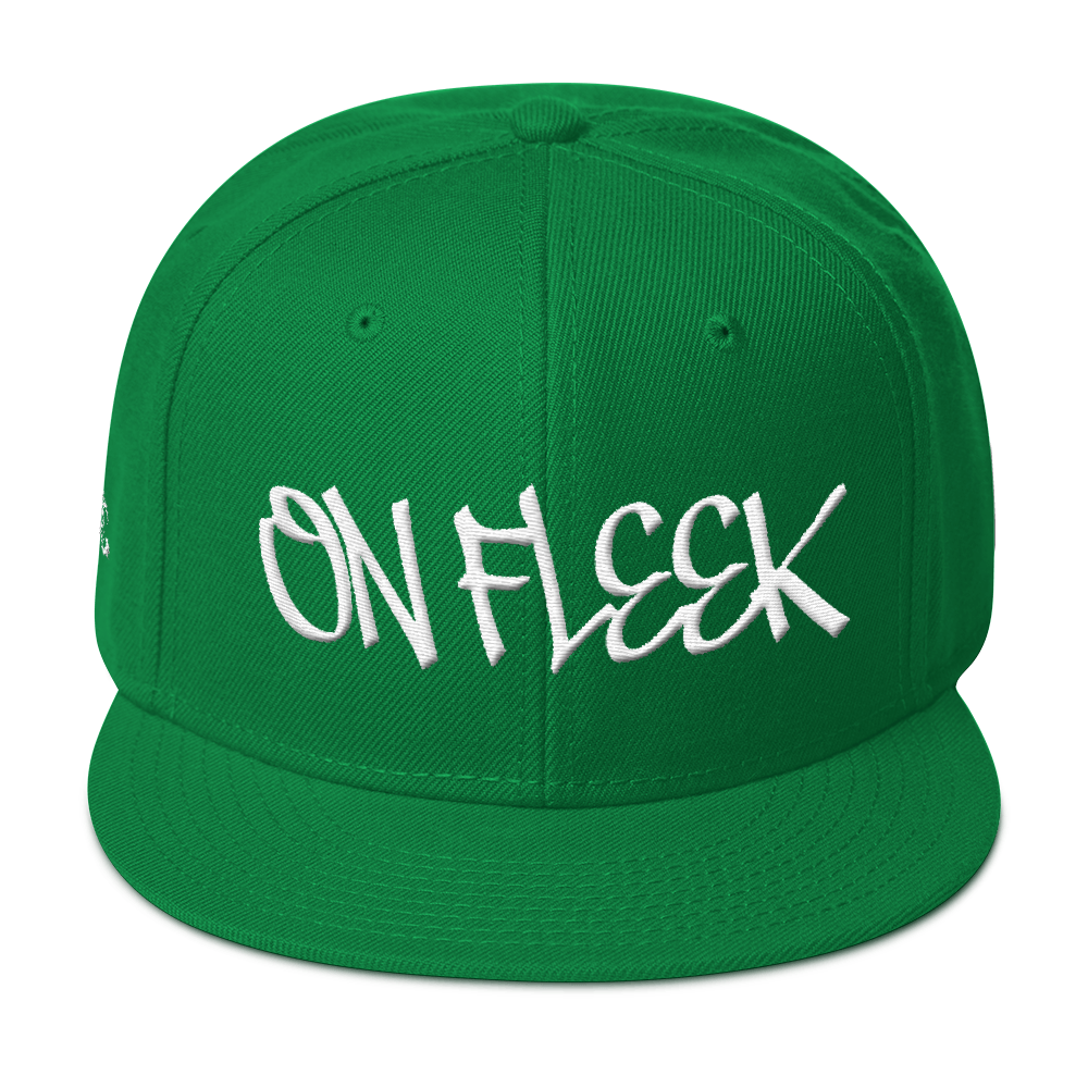 On Fleek Multiple Colors available Streetwear Hat by DiamondzOC Embroidered Snapback Hat