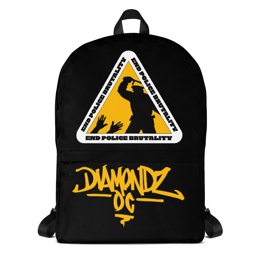 End Police Violence by Diamondz OC / D.O.C. Statement Backpack