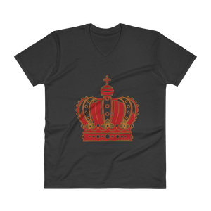 DOC Crown by Diamondz Lightweight Fashion V-Neck T-Shirt with Tear Away Label