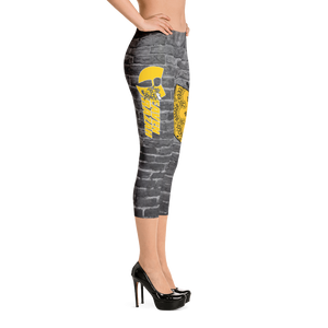 Official Heaven Razah Killer Bee Designer Capri Leggings Hell Razah Music Inc Bee by Culture Freedom