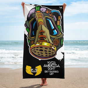 Official Hell Razah Music Inc Dont Get Gassed Graphics by iHustle365_ Designer Beach Towel