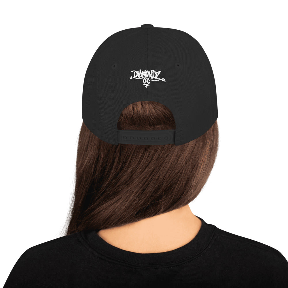 HellRazah Music Inc 2019 Logo Embroidered Snapback Hat HeavenRazah Merch Graphics by SmuveMassBeatz