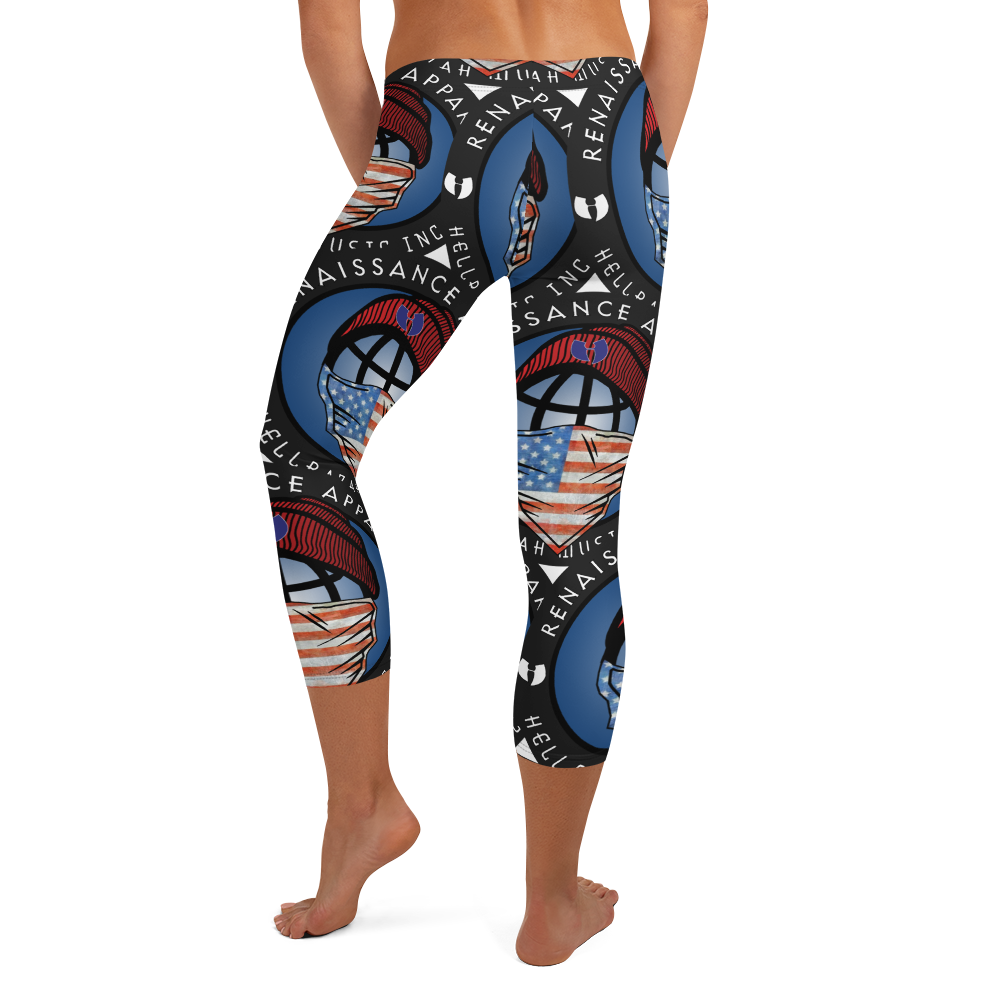 GGO America Masks Up by DiamondzOC Designer Capri Leggings