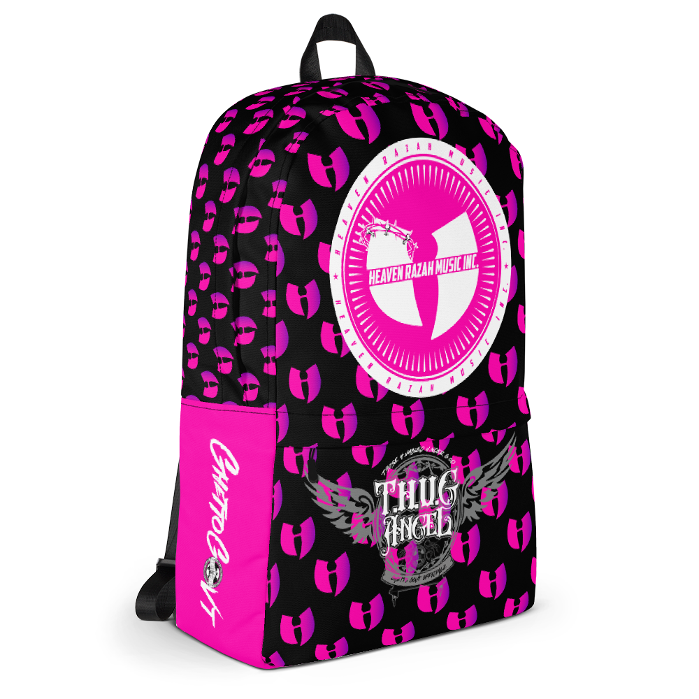 Official Hell Razah Music Ghetto Govt Officialz Designer Pink Backpack