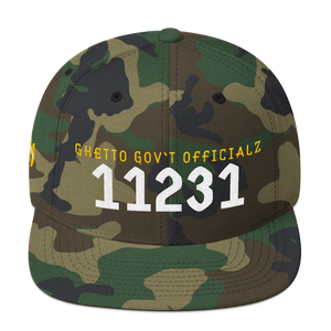 Ghetto Gov't Officialz Personalized Zip - Postal Code Embroidered Snapback Cap Halo Hat Official HeavenRazah