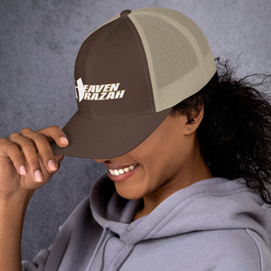 Official HellRazah Music Inc Embroidered Hat HeavenRazah Trucker Cap Graphics by Culture Freedom