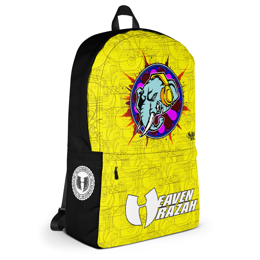 Official Hell Razah Music Inc Elephant Limited Edition Backpack Heaven Razah Merch Graphics by iHustle365