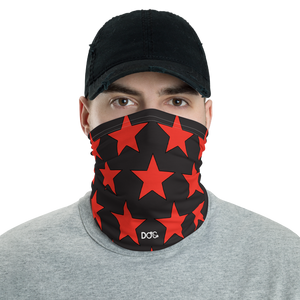 D.O.C. Red Stars Face Shield - Neck Gaiter