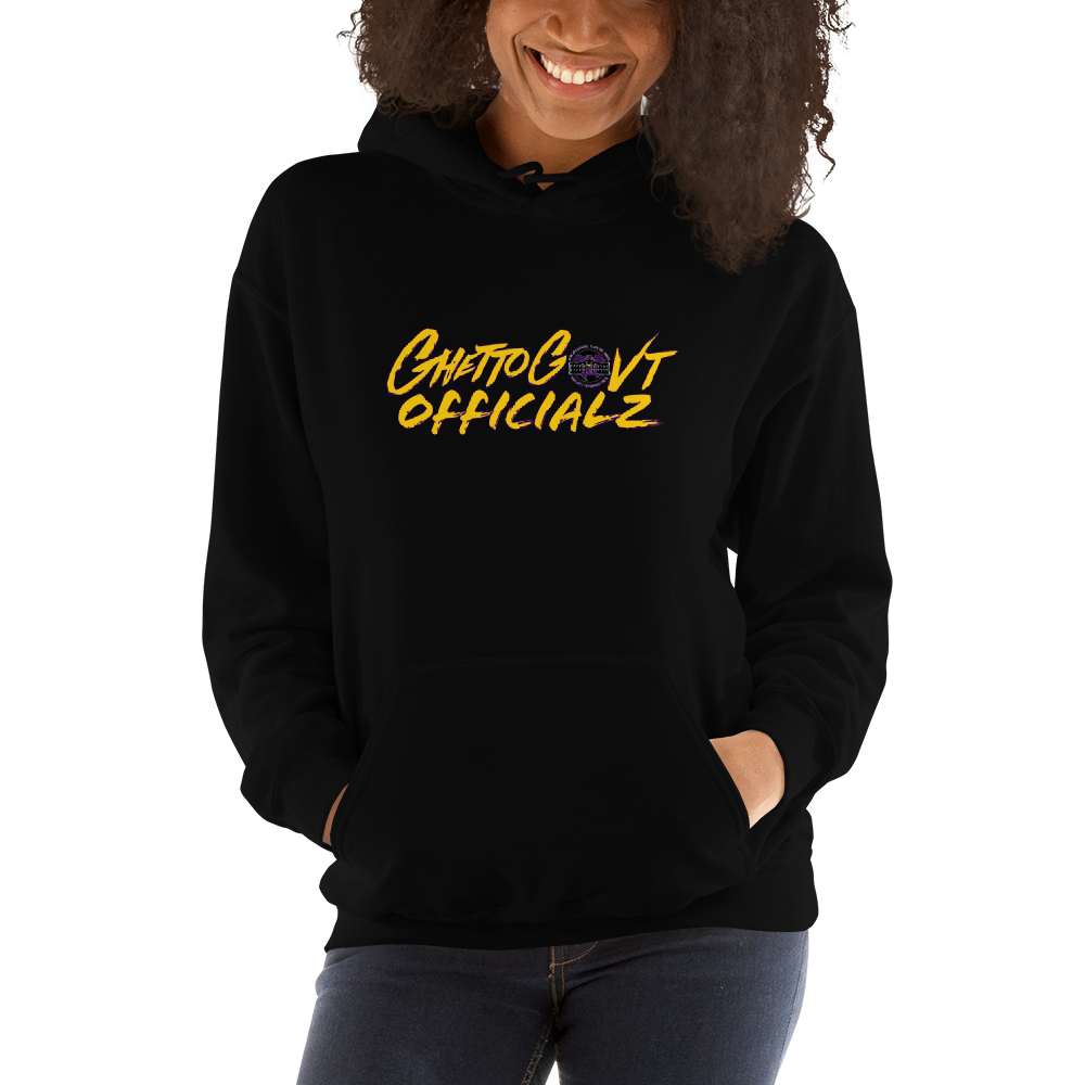 Ghetto Gov't Officialz Purple Bee Hoodie Hooded Sweatshirt Graphics by Culture Freedom