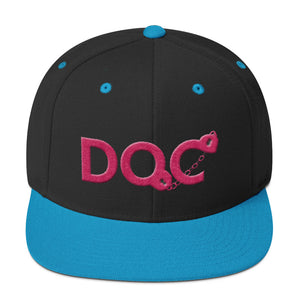 DOC Cuffs Logo Hot Pink Snapback Cap Hat