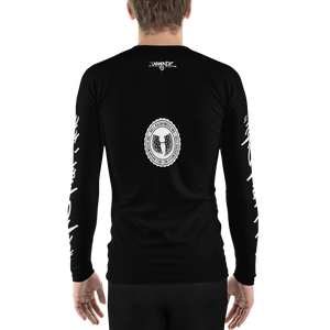 Official HellRazah Music Inc. Tagger Style Designer Athletic Men's Rash Guard HeavenRazah Merch Graphics by Sly Ski Original
