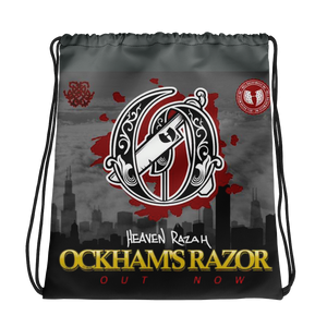 HeavenRazah Limited Edition Ockhams Razor Drawstring Bag Official HellRazah Music Inc. Merch Graphics by iHustle365