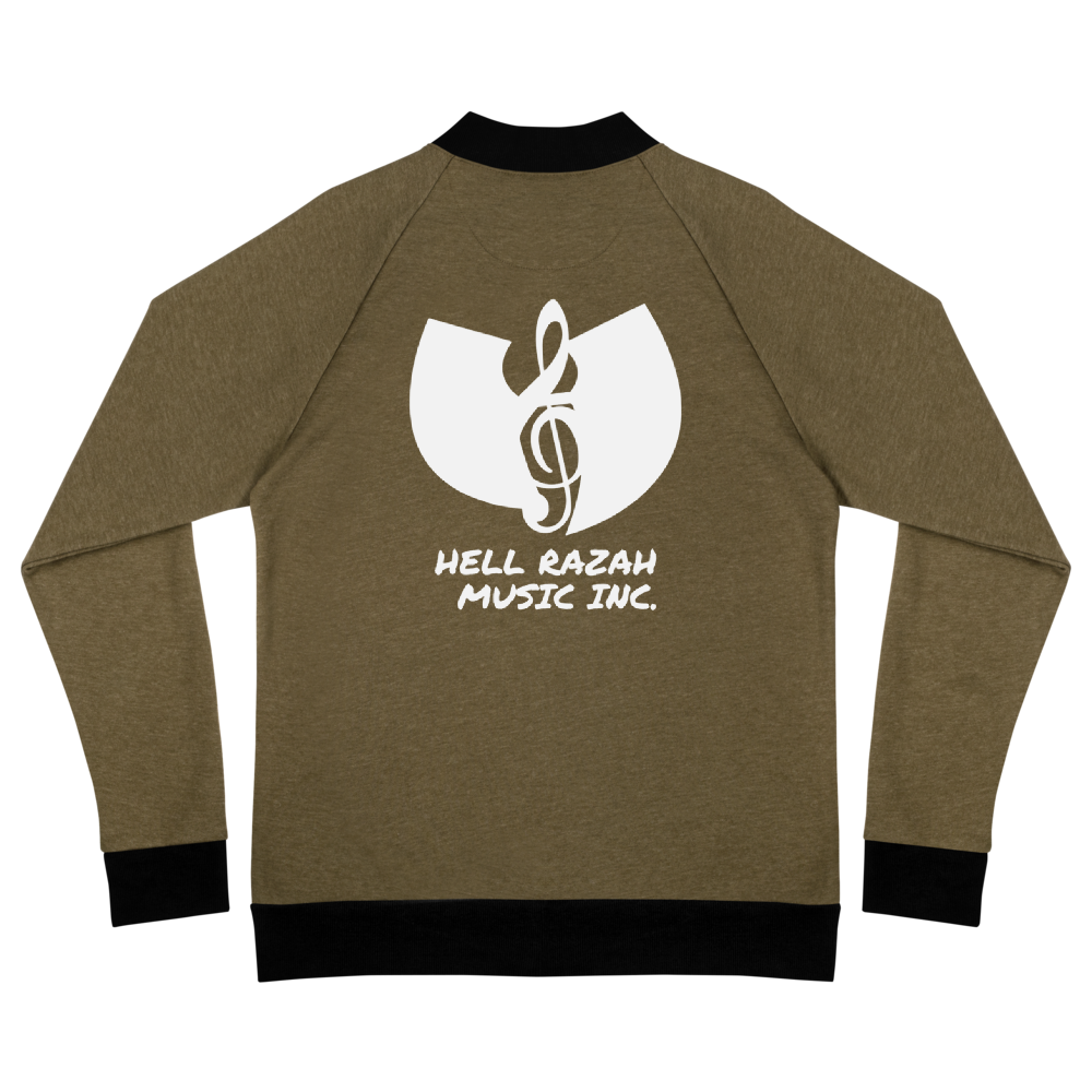 Hell Razah Music Inc. Music Note Logo Unisex Bomber Jacket Official Heaven Razah Merch Graphics by SmuveMassBeatz