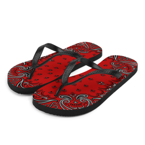 Official Hell Razah Music Inc Red Bandana Logo Designer Flip-Flops Heaven Razah