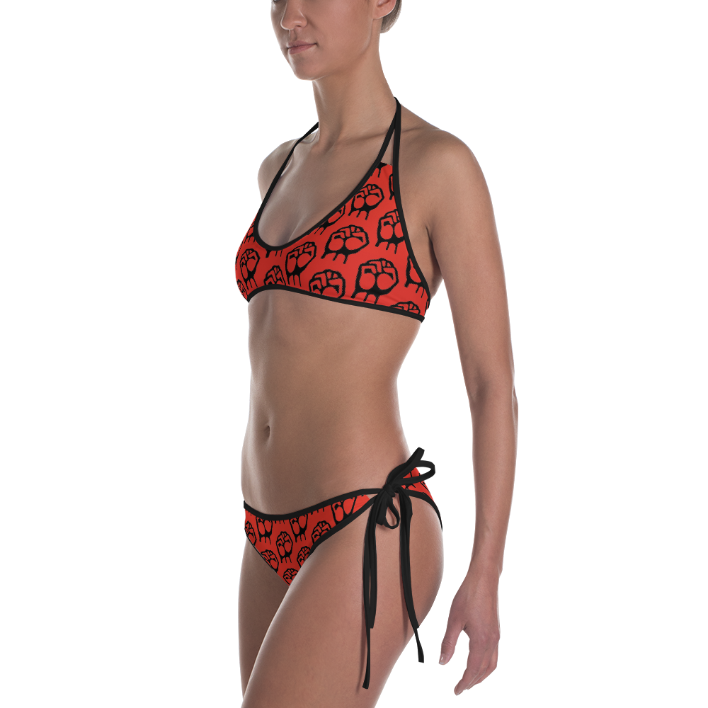 Official Hell Razah Music Inc Reversible Designer Summer '19 2 Piece Bikini Swimsuit Heaven Razah