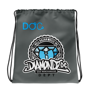 DiamondzOC Logo GGO Dept Drawstring Bag Graphics by iHustle365