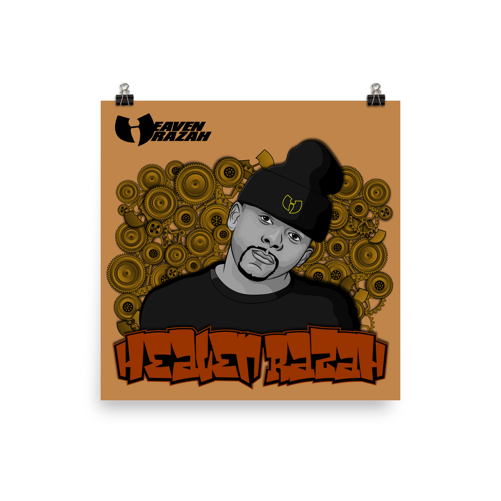 Official Heaven Razah / Hell Razah Music Inc Poster Graphics by Sly Ski Originial