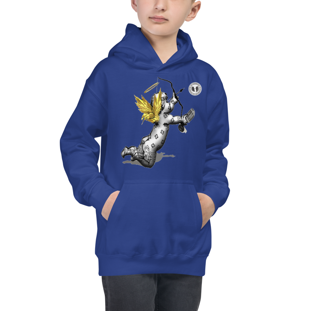 Official HellRazah Music Inc Seraphim Cherub Youth Jacket  Kids Hoodie HeavenRazah Merch Graphics by SmuveMassBeatz
