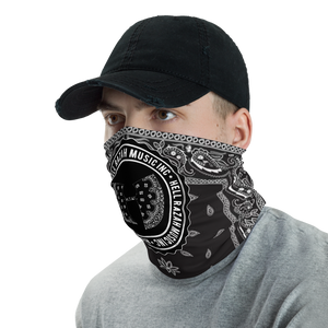 Black Bandana HRMI Logo Facemask - Neck Gaiter - Headband