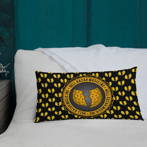 Official Hell Razah Music Inc - Heaven Razah Yellow Logo Designer Collectible Premium Pillow