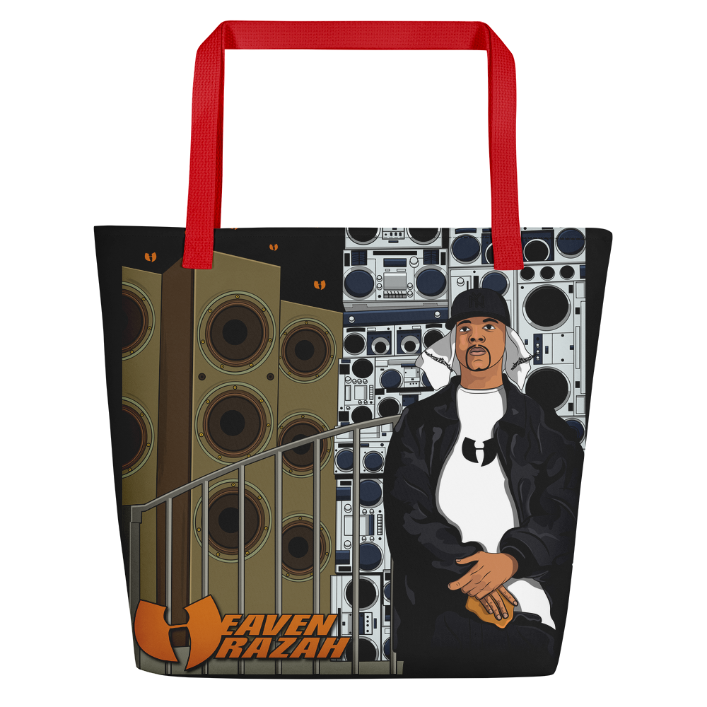Official Heaven Razah / Hell Razah Toon Type Graphics by Sli_Ski_Original Designer Tote Beach Bag